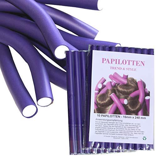 ¡¡NUEVO!! De 10 hasta 60 Bigudies, de Ø16 x 240mm Rulos para el pelo Rodillos Rulos flexibles Bigudies Productos de peluqueria Rizador, 20 unidades
