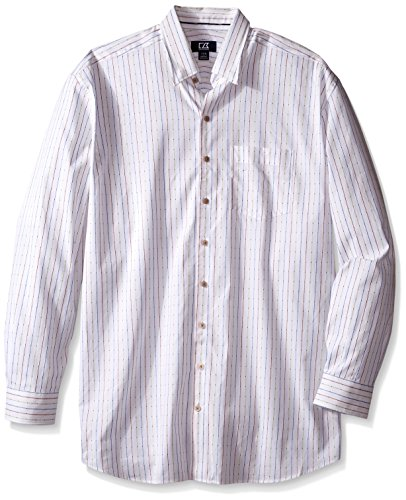 Cutter & Buck Men's Big and Tall Long Sleeve Lantern Stripe Shirt, Multi, 3X/Tall
