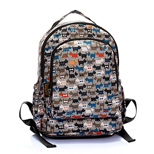 Anti Water Sprinkling Cute Print Backpack Bookbag for Teen Girls/boys Primary School (Harajuku Lovers Backpack)