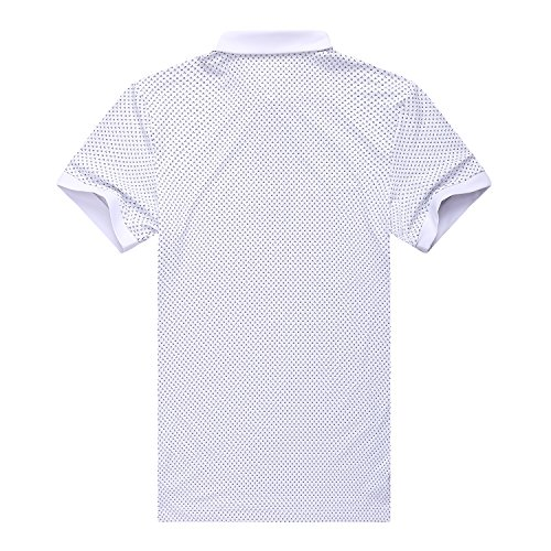 97b0712e9 EAGEGOF Regular Fit Men's Shirt Stretch Tech Performance Golf Polo Shirt  Short Sleeve S (White
