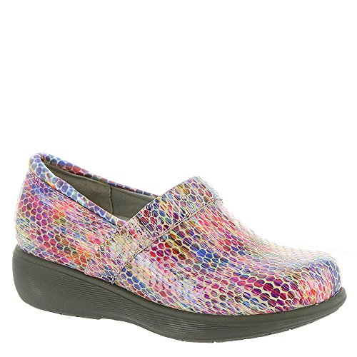 SoftWalk Women's Meredith Sport Clog,Kaleidoscope,US 8 M (Kaleidoscope Leather Womens)