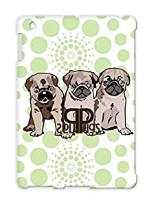 Pugs Pets Pug Pet T Shirts Dogs Puppy Puppy Dogs Animals Nature Dog Pug Puppies TPU Yellow Protective Case For Ipad 2 Pugs