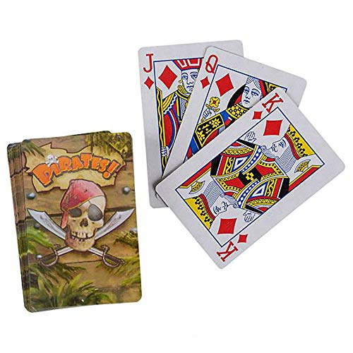 Fine Edge Trendy (Pirate Playing Cards – A Freebooter Card Game - Pack of 12 Sea Robber Deck of Card - Party Entertainment, Corsair Giveaways, Stage Props and Bandit-Themed Birthday Parties for Kids and Adults)