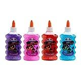 Elmer 's lavable Classic pegamento con purpurina, 6oz botellas, 3-Pack, Azul/Amarillo/Rojo (E317), Purple/Pink/Red/Blue