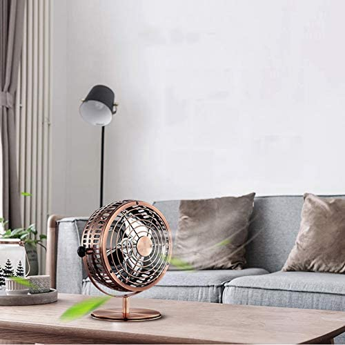 Lsxlsd Portable Mini Fan USB Rechargeable Fan Dormitory Office Retro Ultra Silent Fan