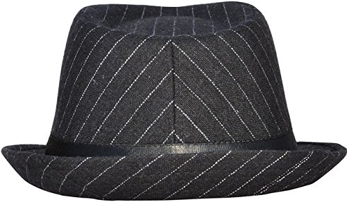 835f305ba7879 Unisex Women Men Short Brim Structured Gangster Manhattan Trilby Fedora Hat