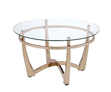 Amazon Com Acme Furniture 81610 Orlando Ii Coffee Table Champagne