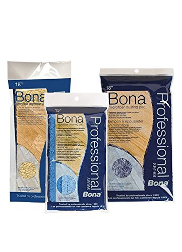 Bona Pro Series AX0003443 18-Inch Microfiber Cleaning Pad, Tri-Lingual by Bona
