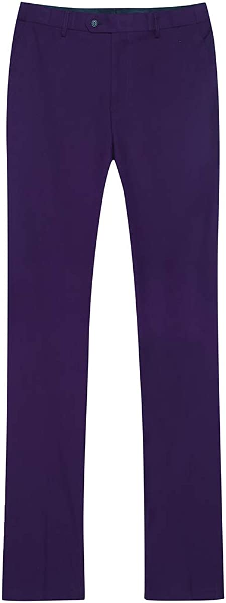 YOUTHUP Abito Uomo Elegante Completo Classico 3 Pezzi Slim Fit Blazer Gilet Vestito Pantalone 2 Pulsanti x-Large, Viola
