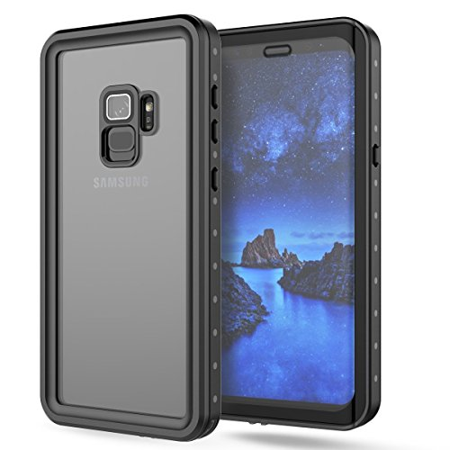 Samsung Galaxy S9 Waterproof Case, Mangix Underwater Cover Full Body Protective Shockproof Snowproof Dirtproof IP68 Certified Waterproof Case for Samsung Galaxy S9 (Clear)