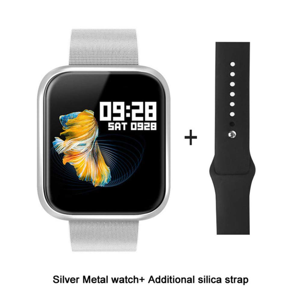 Sport Band Waterproof, TechCode Bluetooth Smart Bracelet Heart Rate/Sleep/Blood Pressure Monitor Smart Watch Multi-sport Wristband Activity Tracker Watch with 2 Watchbands for Man Woman(Silver) by TechCode