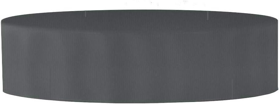 PLANESIUM Premium Sonneninsel RUND Liegeinsel H/ülle Abdeckung Schutzh/ülle Abdeckplane Polyrattan wasserdicht atmungsaktiv Sonnenliege Gartenliege 575g//lfm 180cm Breite x 85cm H/öhe, Braun