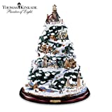 Thomas Kinkade Christmas By The Harbor Lighthouse Artificial Tabletop Christmas Tree by The Bradford Exchange