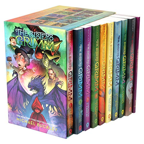 2018 The Sisters Grimm 9 Book Set & Bonus Journal! (Paperback Box Set) - Fairy Tale Journal