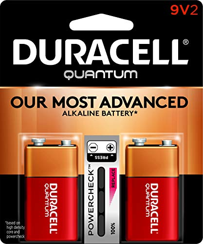 Duracell - Quantum 9V Alkaline Batteries - long lasting, all-purpose 9 volt battery for household and business - 2 count