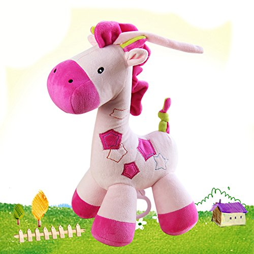 Giraffe Toys Infant Educational Musical Pull Baby Doll Super Soft Baby Toy (Ipod Redskin)