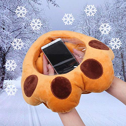1x Creative Visible Hand Warmer Plush Cushion Toy for Playing Mobile Phonein Winter Pillow Transparent Visible Surface