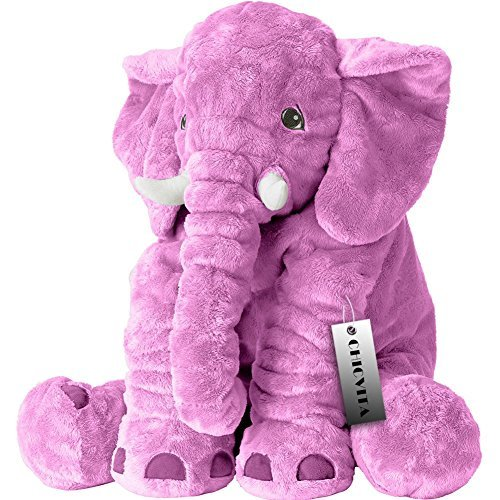 CHICVITA® Large Stuffed Elephant Plush Pillow Baby Toys Ani