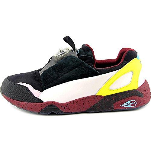 Puma Heren Mcq Schijf Enkelhoge Nylon Fashion Sneaker Zwart-hemels Roze-tawny Port