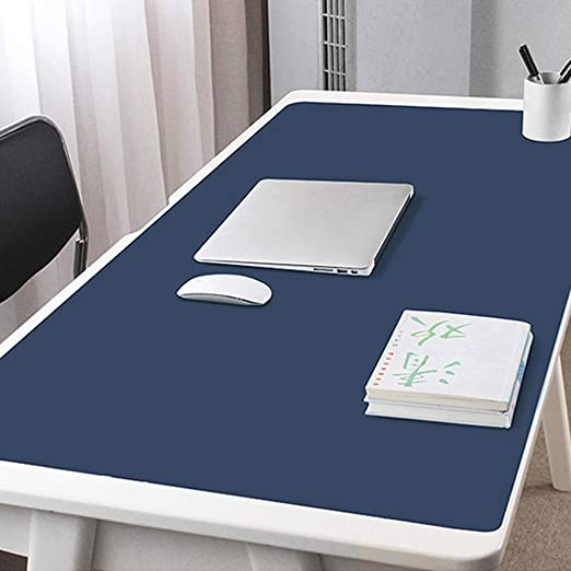 47x24inch Office Desk Mat Writing Gaming Mouse Pad with Comfortable Writing Surface Waterproof-Sky Blue 120x60cm Pu Leather Desk Blotter