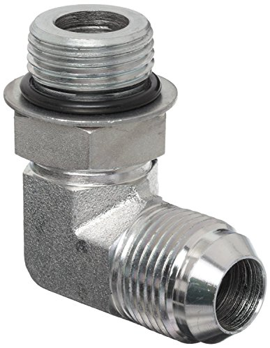 Dixon 1238-12-12 Zinc Plated Steel Hydraulic Pipe Fitting, 90 Degree Elbow, 1-1/16