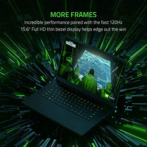 Razer Blade 15 Base Gaming Laptop 2020: Intel Core i7-10750H 6-Core, NVIDIA GeForce GTX 1660 Ti, 15.6″ FHD 1080p 120Hz, 16GB RAM, 256GB SSD, CNC Aluminum, Chroma RGB Lighting, Thunderbolt 3, Black 51ybPcg 2Bq1L