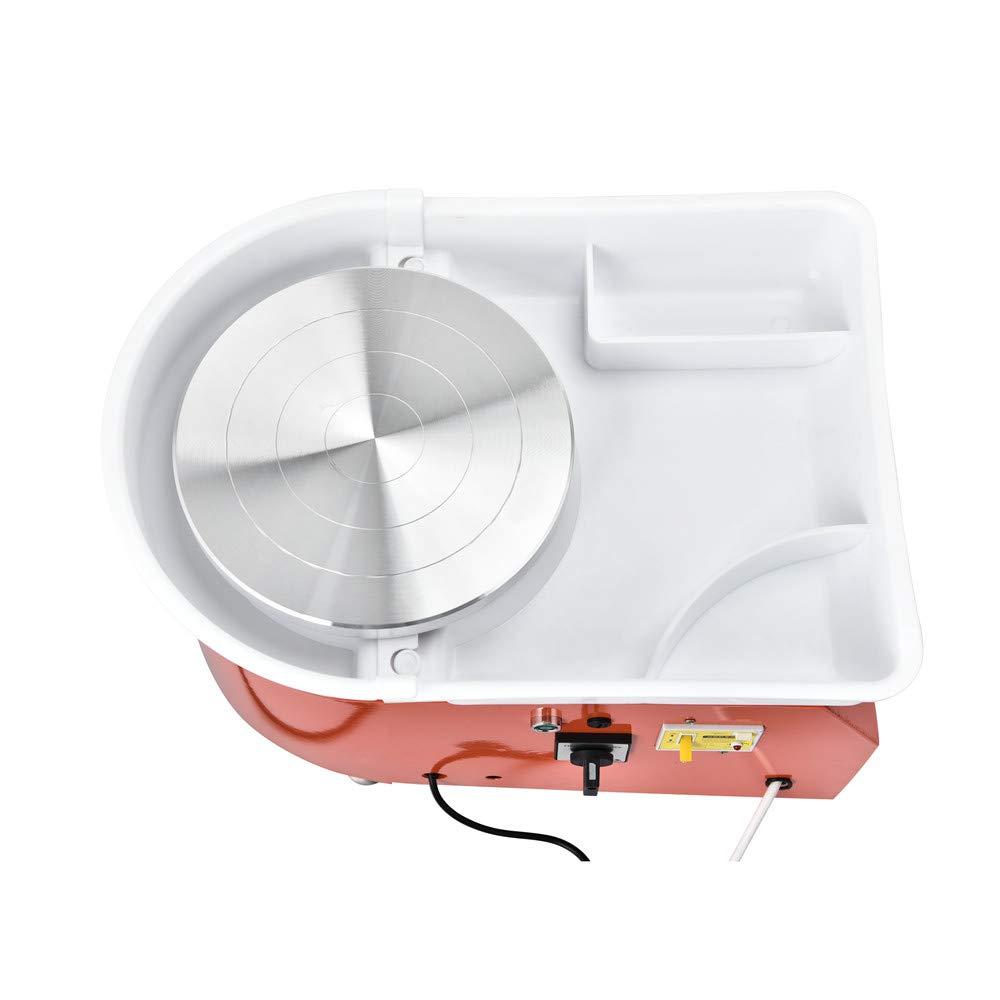 certificado CE con 8 piezas HUKOER Rueda de cer/ámica el/éctrica,350W 25CM Rueda de alfarer/ía que forma la m/áquina DIY Clay Tool con pedales y lavabo desmontable lavable