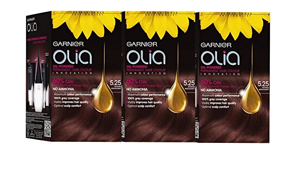 3 x Garnier Olia 5,25 intenso caoba – Tinte permanente para ...