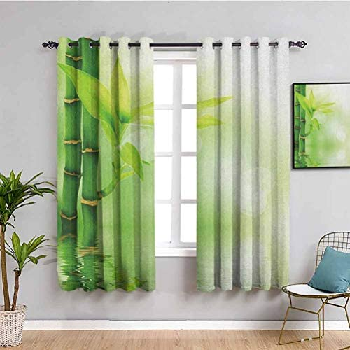 Plant Black Out Window Curtain 2 Panel