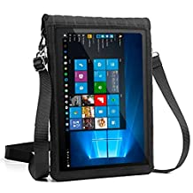 """12"""" Tablet Case with Touch Screen & Adjustable Shoulder Sling / Display Strap by USA GEAR - Works with Samsung Galaxy TabPro S , Microsoft Surface Pro 4 , Lenovo Ideapad Miix 700 & More"""