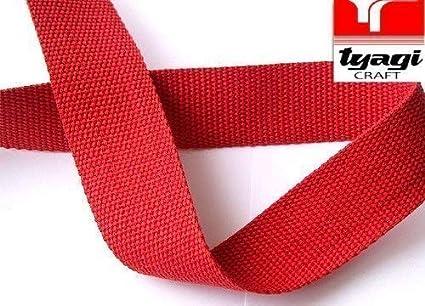 Tyagi Racing Cinta de Lona de algodón, 38 mm, Color Rojo: Amazon ...