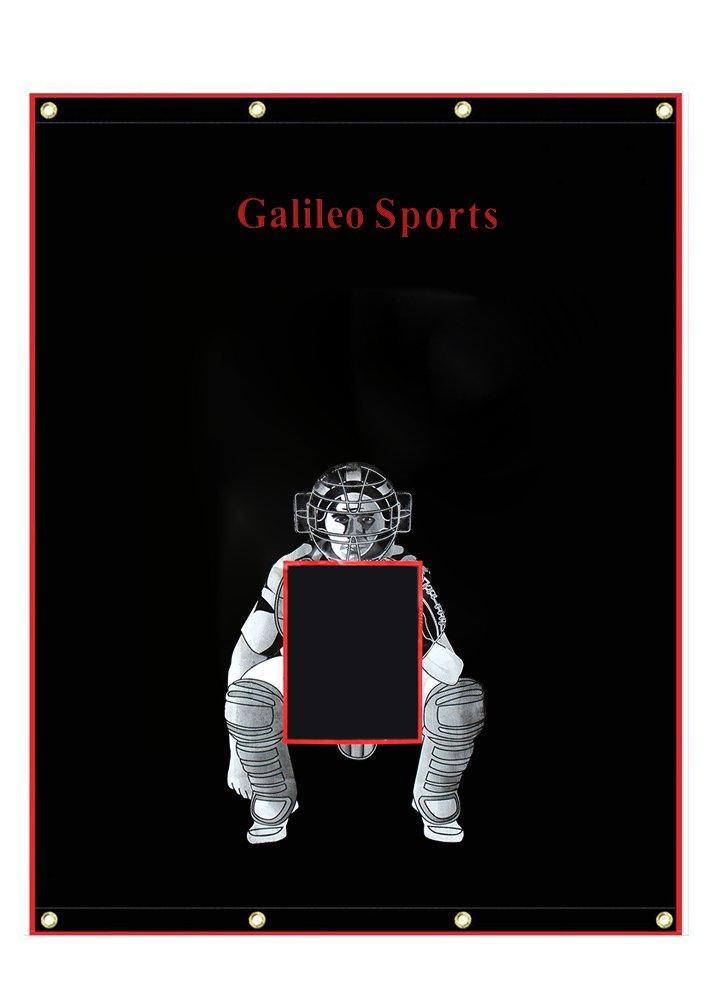Galileo Baseball/Softball Tarpaulin Backstop Batting cage Target with Bungees by Galileo