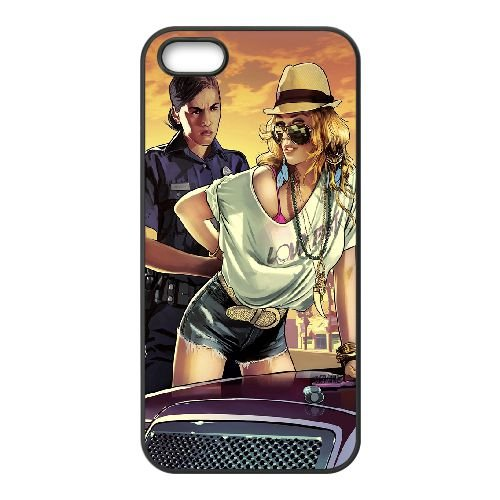 Gta Police S Parallax OE58MA1 coque iPhone 5 5s téléphone cellulaire cas coque D4YW8N0EF