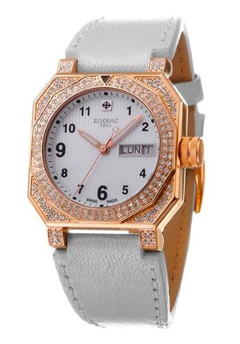 Zodiac - Reloj de Pulsera analógico para Mujer Cuarzo Piel zo8802: Amazon.es: Relojes