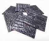 WitnyStore Tea Cup Mug Mat Real Leather Crocodile