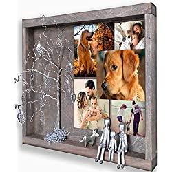 Rainbow Bridge Pet Memorial PictureFrame Willow Family Tree Picture Frame Collages for WallShadow Box Display Case Dog Loss Sympathy Family Gift for Grandmother