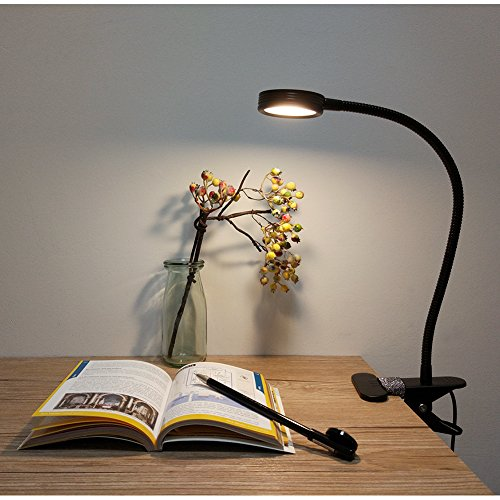 LEPOWER Clip on Light/Reading Light/Light Color Changeable/Night Light Clip on for Desk, Bed Headboard and Computers (Black) by LEPOWER (Image #7)