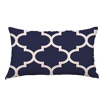 Sencillo Vida Funda Cojin, Cojines Decoraciondel Hogar para Salón, Dormitorio, Oficina, Cama o Coche Pillow Case Sofa Cushion, (30 x 50cm) (D)