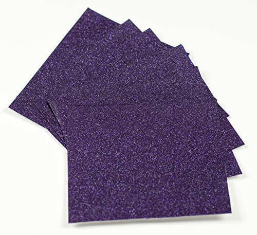 (Expressions Vinyl - Dark Amethyst - 12in. x 12in. 5-pack Ultra-Glitter Permanent Vinyl Single Color Sheets)