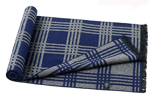 Scarf Men For Silk Autumn Rhombe Lattice Blue Winter 180cm Artificial Change Amdxd xBq48wtB