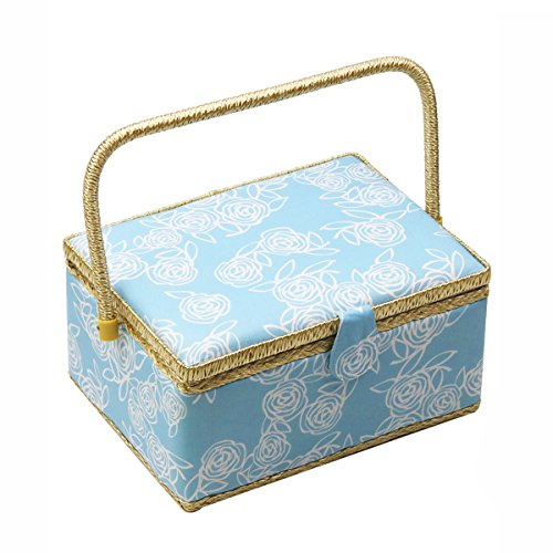 Cheapest Prices! D&D Large Sewing Basket with Accessories, Blue, 8016-1