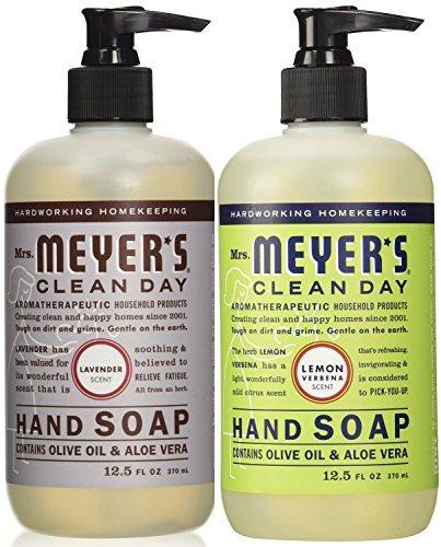 Mrs. Meyers Liquid Hand Soap Lavender & Lemon Verbena, 12.5