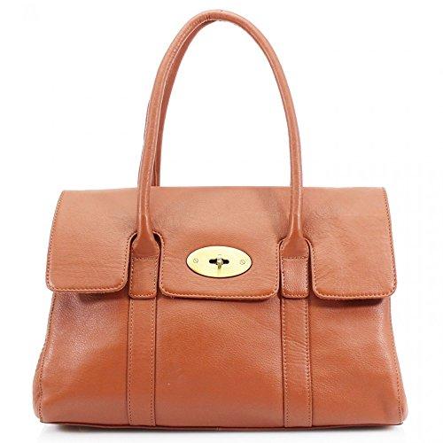 LeahWard® Real Leder Damen Große Größe Handtaschen Genuine Ledertasche Braun Ledertasche H45cm x W37cm x D15cm Tb1ab6