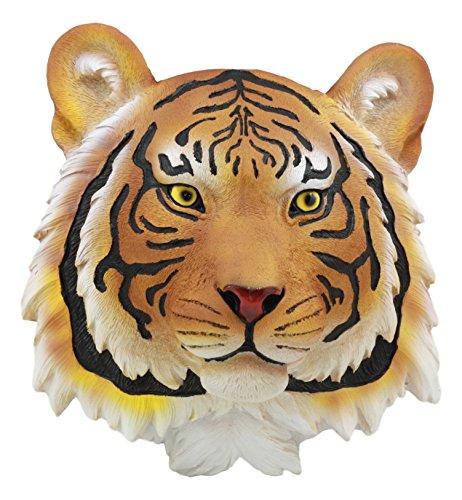 Ebros Mini Orange Bengal Tiger Head Wall Decor Plaque 7.5