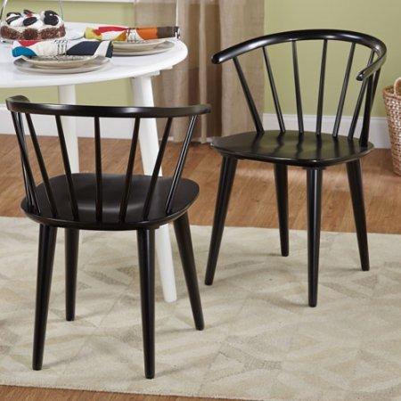 Amazon.com: Conjunto de dos sillas de comedor con Slender ...