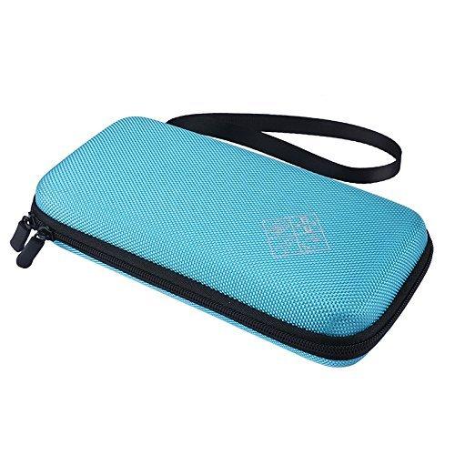 Calculator Texas Instruments TI-84 / Plus CE Hard EVA Carry Case Handheld Storage Case Travel Bag Protective Pouch Box (Blue) ()