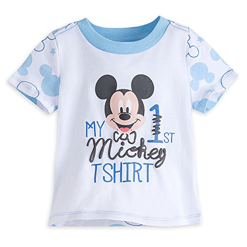 Disney Mickey Mouse ''My First Mickey'' Tee For Baby Size 18-24 MO White (Mickey Mouse Clubhouse Full Episodes En Espanol)