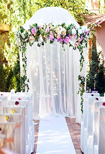 4x6ft Chiffon Bouquet Archway Ceremony Bridal Shower Decoration Wedding Ceremony Adult Artistic Portrait Photoshoot Props Photography Background Wallpaper ()