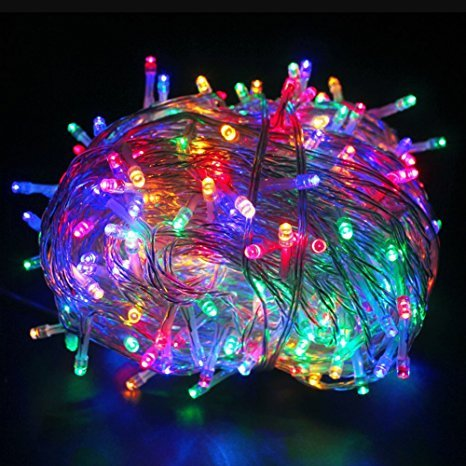 Sfondi Natalizi Luminosi.Yoeeku Luminosa Catena Luminosa 10m 100 Led Natalizie Per Interno Esterno Ideale Per Decorazione Natale Matrimoni Feste Multicolore