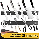 Adhesive magnetic strip for knives kitchen with Multipurpose Use as Knife Holder, Knife Rack, Knife Magnetic Strip, Knives Bar, Kitchen Utensil Holder, Tool Holder for Garage and Kitchen Organizer